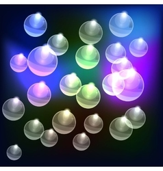 Abstract Colorful bubbles background vector image