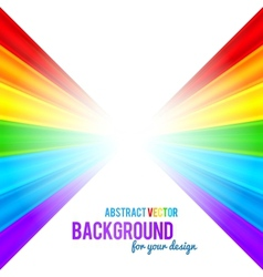 Abstract rainbow stripes background vector