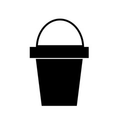 bucket icon black sign on vector image vector image