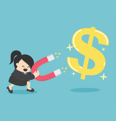 business woman concept of attracting investments vector image
