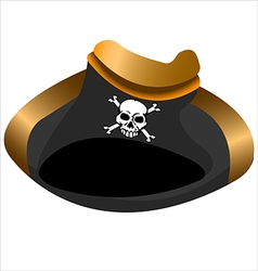 Pirate hat tricorn vector