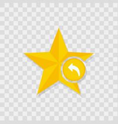 star icon arrow backward icon vector image