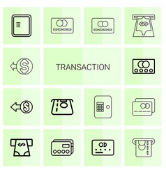 14 transaction icons vector