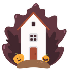 a house rural landscape in vector image