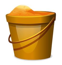 A pail sand vector