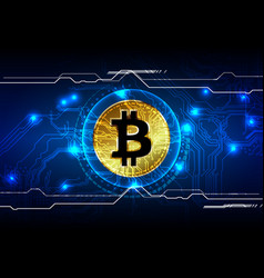 Abstract bitcoin digital currency background vector