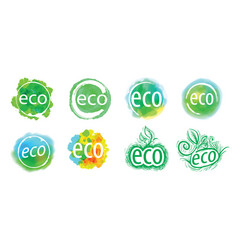 abstract eco sign icon vector image