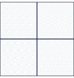 Abstract Geometric Patterns Set vector image