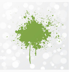 Abstract grunge splash of greenery - color vector