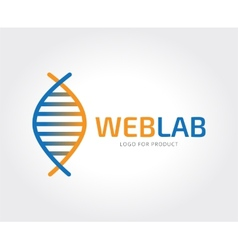Abstract science logo template for branding vector