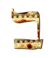 alphabet hebrew passover matzah hebrew letter bet vector image