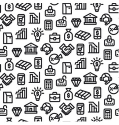 banking seamless pattern vector image