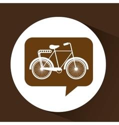 Bicycle symbol vintage color icon vector