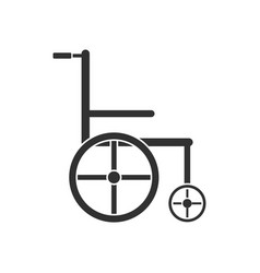 Black icon on white background medical wheelchair vector