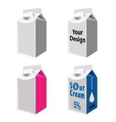 Blank Milk And Juice Carton Packages vector