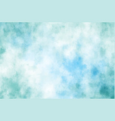 blue green watercolor grunge brush stroke vector image