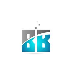 Blue grey alphabet letter combination bb b b for vector
