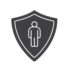 Bodyguard glyph icon vector