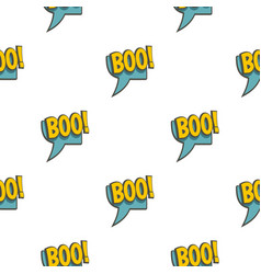 Boo speech bubble pattern seamless vector