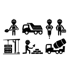 Building industrial icon for construction industry vector