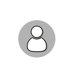 Business icon contact person in flat style vector