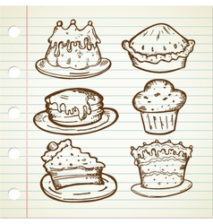 CAKE DOODLE COLLECTIONS vector image vector image