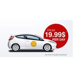 car rental ad banner mockup for business promotion vector image