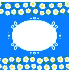 card with floral seamless frame vector image