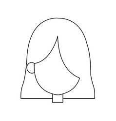 Cartoon face of saint virgin mary vector