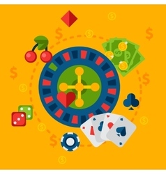 Casino in flat style vector image