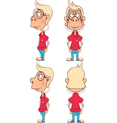 Character cute cartoon boy for computer game vector