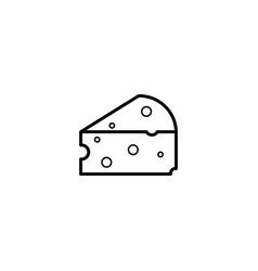 cheese dairy icon vector image