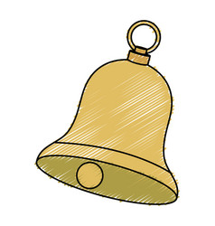 Christmas bell decorative icon vector