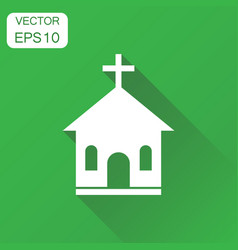 Church sanctuary icon business concept church vector