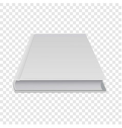 Closed diary icon realistic style vector