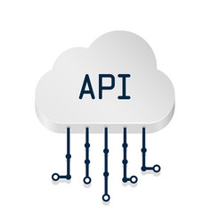 Cloud api 3d sign technology vector