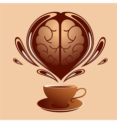 Coffe and brain vector