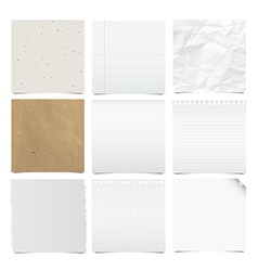 Collection of note papers background vector