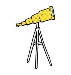Comic cartoon telescope vector