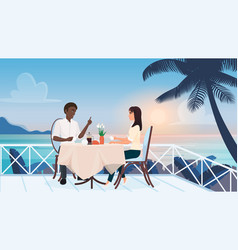 couple people on love romance dating in outdoor vector image