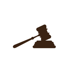 Court hammer logo vector