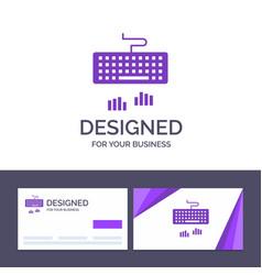 Creative business card and logo template keyboard vector