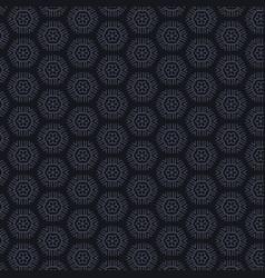 Dark background with hexagonal patterns vector