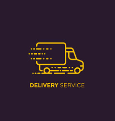 delivery service linear icon vector image