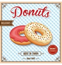 donut retro poster vector image