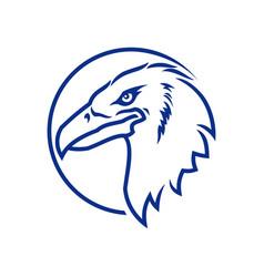 eagle head icon eagle silhouette in circle vector image