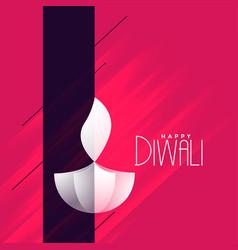 Elegant creative diwali diya greeting background vector