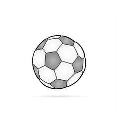Football ball and shadow vector