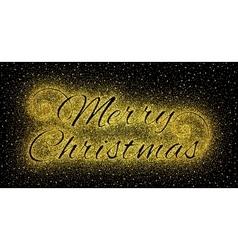 Glitter gold textured inscription Merry Christmas vector