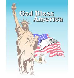 God bless america 1 vector